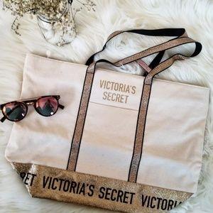 Victoria's Secret Sparkle Canvas Tote Bag